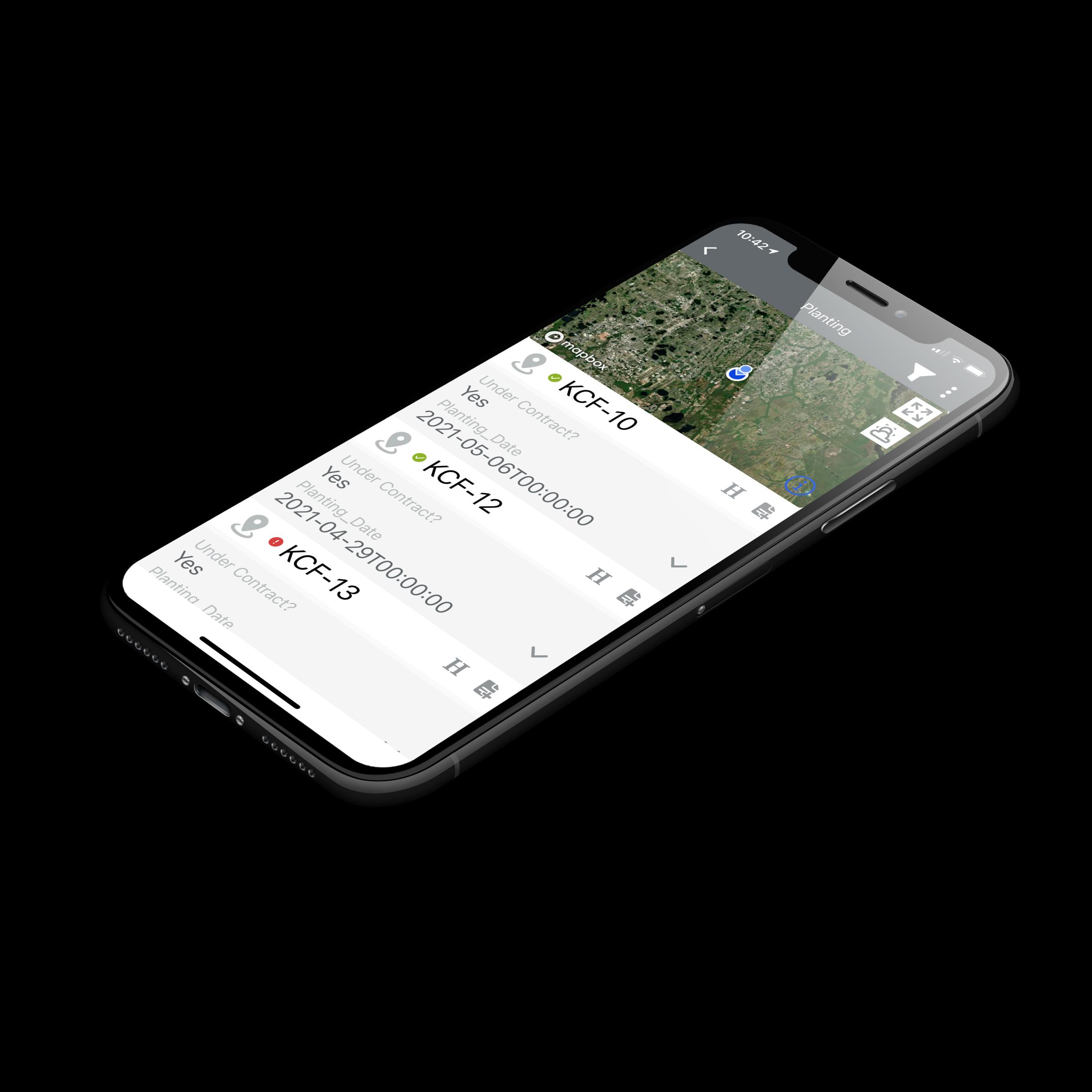 iPhone using CropTrak Worklists